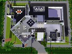 sims 3 modern house floor plans sims 3 ps3 houses litlle blueprints modern house