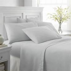 cameron performance light gray full 6 piece bed sheet ieh 6pc f lg the home depot