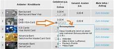 kreditkarten vergleich individuelle berechnung hier m 246 glich