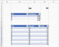 worksheet function excel how to generate dynamic tables based values of another table