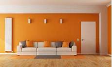 wandfarbe orange orange in modern living room stock image image of