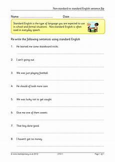 non standard to standard english sentence flip complex sentences home page