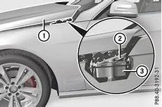 Mercedes E Klasse Motorhaube Motorraum Wartung Und
