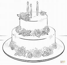 Malvorlagen Cake 28 Birthday Cake Coloring Page In 2020 Cake Drawing