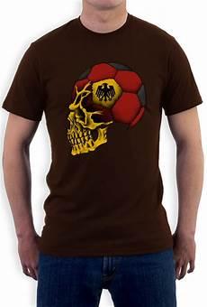 germany flag world cup skull t shirt deutschland football
