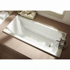 baignoire rectangulaire l 170x l 75 cm blanc jacob