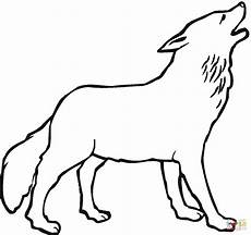 Malvorlagen Wolf Wolf Howling Moon Coloring Pages And Print For Free
