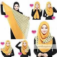 Cara Memakai Jilbab Segiempat Simpel Modern
