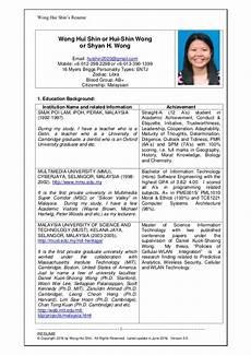 resume wonghuishin career 2016 new v2