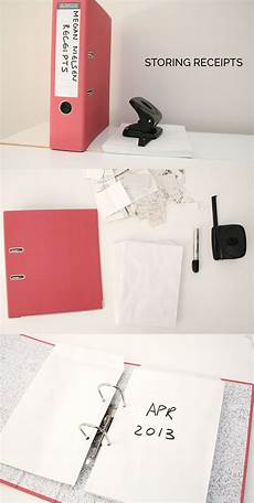 quick tip storing receipts receipt organization small business organization small