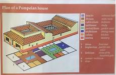pompeian house plan y7 lat plan of a pompeian house