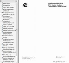 cummins n14 engines shop troubleshooting repair manual pdf
