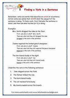 grade 3 grammar topic 2 action verbs worksheets lets share knowledge