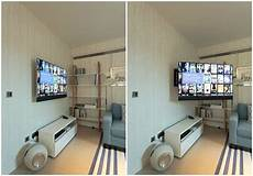 the kitchen tv mounted on the bespoke future automations