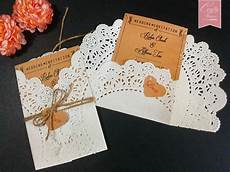 doily paper wedding invitations rustic wedding diy