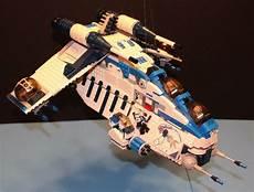 lego 174 brick star wars custom 7676 blue 501 republic gunship 9 minifigure crew ebay