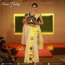 kerala mundu saree first reporter onam brides with elegant and traditional green combination