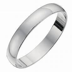 9ct white gold d shape 3mm heavy wedding ring h samuel
