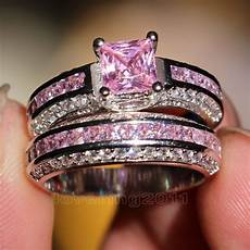 pink camo wedding ring sets with real diamonds camo