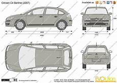 citroën c4 dimensions citroen c4 berline vector drawing