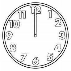 Malvorlagen Uhr Schreiben Vorlage Uhr Blanko 01 Ausmalbilder Uhren