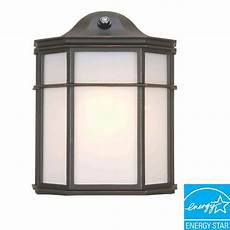 hton bay 1 light outdoor rubbed bronze dusk to dawn