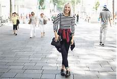 how to wear chunky heel brogues stripes floral