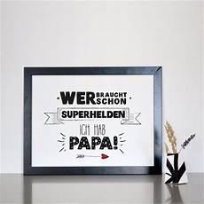 Formart Kunstdruck Superhelden Papa Din A4 Kaufen