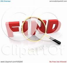 search clipart royalty free rf clipart illustration of a 3d magnifying