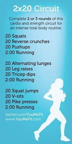 get a great cardio and strength workout do 20 reps of