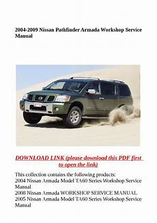 how to download repair manuals 2009 nissan pathfinder seat position control 2004 2009 nissan pathfinder armada workshop service manual by dora tang issuu