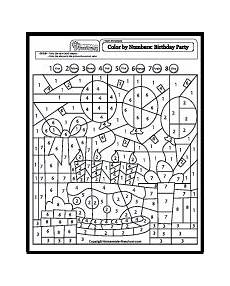 birthday color by number worksheet 16090 color by number birthday math coloring maths colouring sheets shape coloring pages
