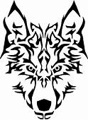 Wolf Clipart Tribal Transparent FREE For