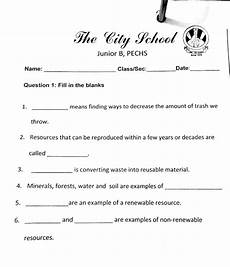 the city school grade 4 social studies revision worksheet