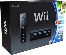 wii console sports nintendo nintendo wii console black with wii sports and