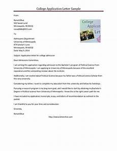 sle college application letter