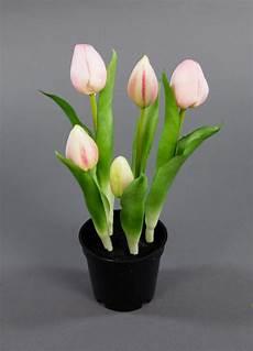 tulpen im topf in der tulpen real touch 25cm rosa im topf ga kunstpflanzen