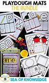 Playdough Mats Alphabet Numbers Shapes  The Bundle