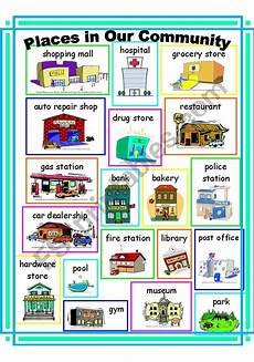 places in community worksheets 15955 community places vocabulary esl worksheet by ehelland33