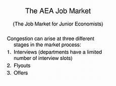 aea job market ppt the aea job market powerpoint presentation id 1057644