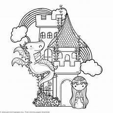 magic world castle princess and coloring pages