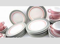 Adorable pink and grey Shenango Rim Rol Wel Roc retro