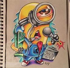 Paling Keren 23 Gambar Grafiti Kartun Minion Keren Arka