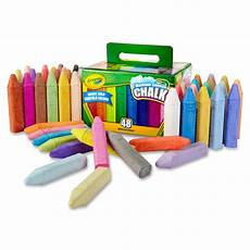 crayola washable sidewalk chalk 48 box assorted colors