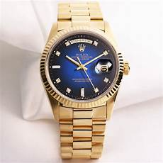 rolex day date 18078 blue degrading 18k