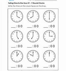 telling time free worksheets for grade 1 3566 telling time to the hour worksheets for grade