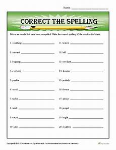spelling error correction worksheets 22343 commonly misspelled words worksheet newatvs info