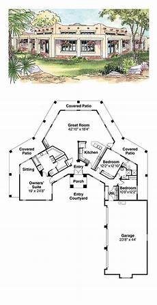 southwest house plans with courtyard southwest style house plan 69773 with 3 bed 3 bath 3