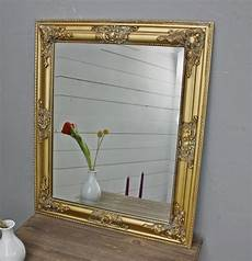 wandspiegel mit ablage landhaus spiegel 62x52 cm wandspiegel barock gold holz landhaus