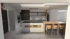 Cuisine Design Gris Clair Et Bois Avec Grand 238 Lot Et